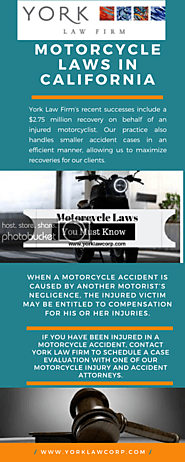 Motorcycle Laws In California