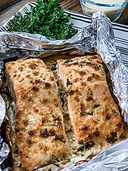 Garlic Parmesan Salmon in Foil - Pound Dropper