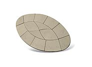 Piccolo Oval Paving Patio Kit 2.64m2 Limestone - Armstrong Supplies
