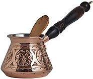 Demmex Thick Copper Turkish Coffee Pot
