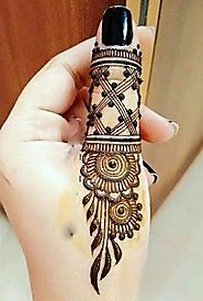simple mehndi design and ideas - | HappyShappy