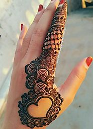 Arabic mehndi design for back hand | HappyShappy