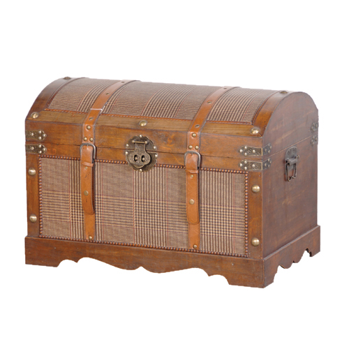 TWEED EFF.DOME TOP TRUNK