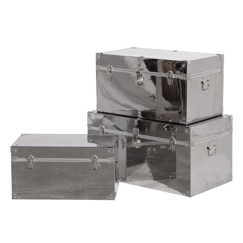 S/3 STEEL TRUNKS from The Essential Home