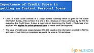 Importance of Credit Score in getting an Instant Personal Loans