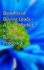 Advantages of Buying Leads from Lead Market Bangalore