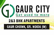 Website at http://www.gaurcity.net.in/construction-status.html