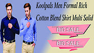 #Xclusiveoffer Koolpals Men Formal Rich Cotton Blend Shirt Multi Solid