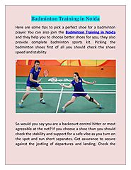 Indoor Courts for Badminton Training in Noida