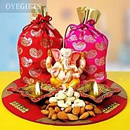 Order DRYFRUITS & DIYA TRAY Online Same Day Delivery - OyeGifts.com