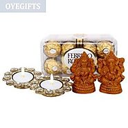 Send Deity, Diyas & Ferrero Rocher Online Same Day Delivery - OyeGifts.com