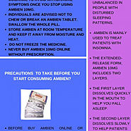 Ambien- Overview, Use, Precautions | Visual.ly