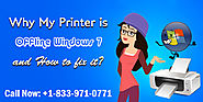 Why My Printer is Offline Windows 7 and How to fix it?