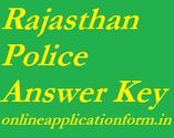 Rajasthan Police Answer Key 2014