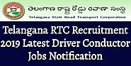 Telangana RTC Recruitment 2019 Latest Driver Conductor Jobs Notification