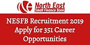 NESFB Recruitment 2019 Apply for 351 Career Opportunities