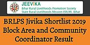 BRLPS Jivika Shortlist 2019 Block Area and Community Coordinator Result