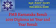 PMB Karnataka Result 2019 Diploma 1st Year 2nd Year Result