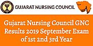 Gujarat Nursing Council GNC Results 2019 September Exam of 1st 2nd 3rd Year