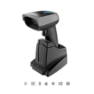 1D Wireless Screen Barcode Scanner with Smart Base ,BS01001
