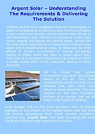 Argent Solar – Understanding The Requirements & Delivering The Solution