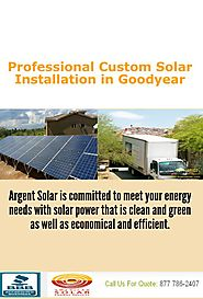 Professional Custom Solar Installation in Goodyear