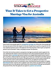 Time It Takes to Get a Prospective Marriage Visa for Australia