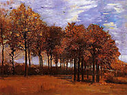 Autumn Landscape Painting by Vincent Van Gogh