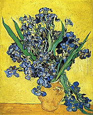 Still Life with Irises Painting by Vincent Van Gogh