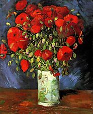 Vase With Red Poppies Painting by Vincent Van Gogh