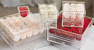 Fascinating Acrylic de Fleurs collection of Preserved Roses