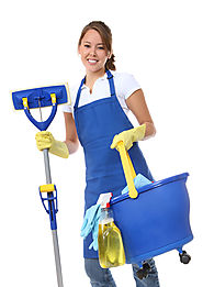 Cleaning Lady Blue Apron All Cleaning Supplies