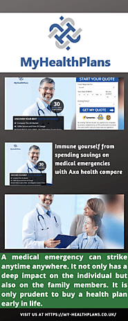 Good health plan with Axa health compare