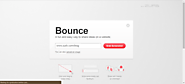 Bounce – A fun and easy way to share ideas on a webpage