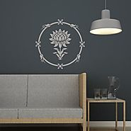 Water Lily Round Stencil for easy DIY Home Improvement Reusable Wall Decor - RoyalWallSkins
