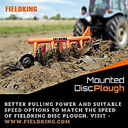 Disc Plough | Mounted Disc Plough | Fieldking Agricultural Machinery