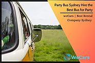 Hire the best Party Bus Sydney | weCars