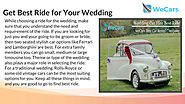 Best Wedding Car Rental Company Sydney | weCars