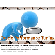 Oracle Performance Tuning Tips and Tools for You by Tosska!
