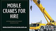 Why mobile cranes are preferred for most of the construction sites?