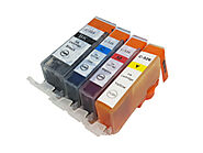 Premium Ink Cartridges 1 Each CLI526 Bk, C,M,Y – for use in Canon Printer