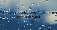 Why Jute shopping bags Australia are high in demand