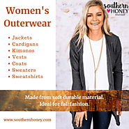 Shop Womens Outerwear - Cardigans, Kimonos, Jackets | Southern Honey Boutique