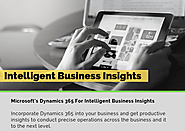 Roll Of Microsoft's Dynamics 365 Services For Intelligent Business Insights