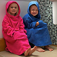 Buy Children's Cotton Hooded Poncho from TowelsRus