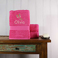 Buy Girl's Personalised Butterfly Bath Towel at TowelsRus