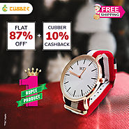 Fancy Round Shape Watch at Cubber Mall | Flat 87% off + 10% cashback