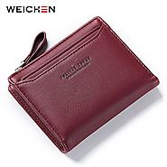 Buy Synthetic Leather ID Card Holder Wallet for Ladies |ShoppySanta