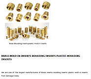 Brass Moulding Inserts Plastic Mold in Inserts