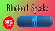 Xcluciveoffer Bluetooth Speaker with FM/Pendrive Stereo Pill Shaped